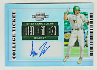 2019 Contenders Draft OPTIC PRIZM COLLEGE TICKET AUTO SHEA LANGELIERS RC Rookie