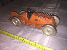 "1930's Animated HUBLEY Racer 10 1/2"" length - Super Rare Clean Original Paint"