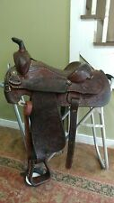 "15"" Longhorn Vintage Fancy Buckstitched Western Saddle-#1112 *Used"