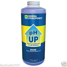 General Hydroponics Quart 32oz 1 QT PH UP BASE SAVE $$ W/ BAY HYDRO $$