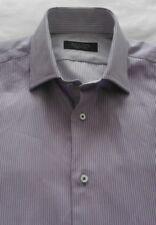 Men's Zara Work / Casual / School Shirt - Two-Tone Purple stripe - 15''