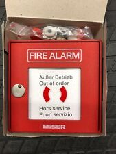 US Army Druckknopfmelder FIRE ALARM Esser Aluminiumgehäuse Feuermelder 704802