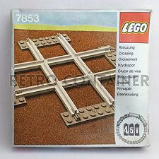 LEGO NEW Set MISB Sigillato 7853 - Crossing, Grey 4.5 V - Trains Treni (1980)