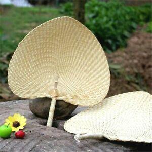 Arts Hand Made Fan Peach Shaped Bamboo Summer Cooling Air Diy Home Decor New