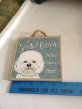 Bichon dog signs plaques signs