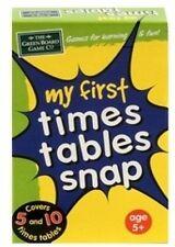 Ma première fois tables SNAP jeu de cartes pour enfants calcul jeu g12