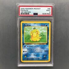 PSA 9 Mint Psyduck 1st edition Team Rocket - 2000 Pokémon Card