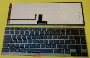 original Tastatur Toshiba Z830-10J Z830-10k Z830 Z930-14T Backlit Keyboard DE