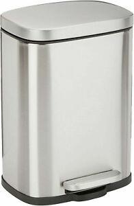 Rectangular, Stainless Steel, Soft-Close, Step Trash Can - 5 LITER / 1.3 Gallon