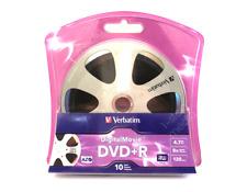 10-pk Verbatim Digital Movie DVD+R w/ AZO & Fun Design! 8x 4.7GB 120 mins #96857