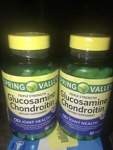 Glucosamine Chondroitin Triple Strength joint health 80 Tab (2 Bottles)