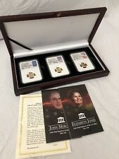 Set of 3 2017 $5 Gold Eagle 1/10 oz SIGNED All MS70 First Day of Issue Boxed Set