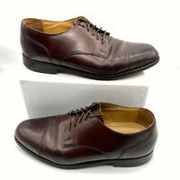 Stafford Executive Mens Cap Toe Lace Up Oxford Dress Shoes Brown Size US 9.5 D/B