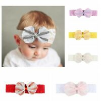 Newborn Girls Kids Baby Toddler Infant Lace Bow Headband Hair Band Accessories//