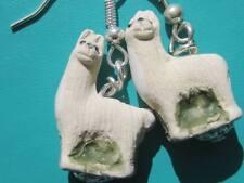Peruvian Ceramic Llama quirky earrings