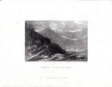 """Antiguo galés Impresiones - """"Nant Ffrangcon"""" - Radclyffe acero grabado (1872)"""