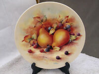 FENTON CHINA DECORATIVE PLATE WITH A FRUITS PATTERN   D WALLACE ARTIST