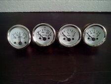 "2"" / 52mm Electrical Oil Pressure  Temperature  Amp 30 Fuel Gauge -White Face"