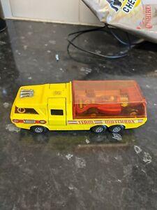 MATCHBOX SUPER KINGS RACING CAR TRANSPORTER AND RACING CAR, K-7 - ORIGINAL