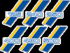 1986 Husqvarna CR WR XC 125 250 400 430 500 Airbox Cover Decal