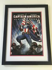 Professionally Framed Classic Captain America Comic Cover Posters - Marvel 55x42