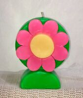 VTG Northern Lights USA Flower 🌸 Power Candle ~ Black Light Responsive ~ 5.25""