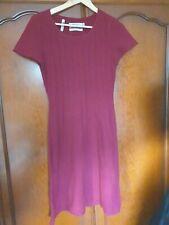Women Burgundy Wool Dress by Seasalt  size 10
