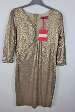 Mesdames boohoo Sequin Party Glam Sexy Robe Moulante UK 14