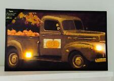 Flickering Lights Canvas Pumpkins For Sale Truck Unique Original Fall Decor