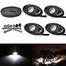 4X CREE White LED Rock Pickup Truck Trailer Side Marker Underbody Work Light