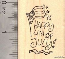 Happy 4th of July Rubber Stamp, American Independence Day 4th Of July G17503 WM