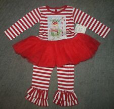 Haute Baby Toddler Girls 2 Piece Holiday Tutu Set - Size 2T - NWT