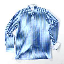 Karierte klassische Herrenhemden mit normaler Olymp