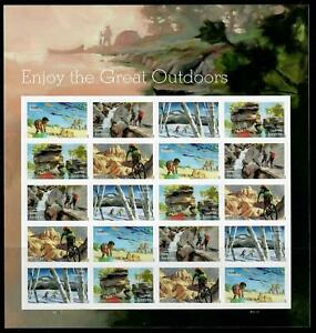 US Sc 5475-79 Enjoy the  Great Outdoors- Nature 2020 Sheet of 20