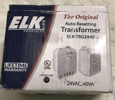 Elk Trg2440 24Vac 40Va Plug-In Transformer Auto Reset Overload Protection