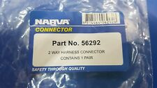 56292 Genuine Narva 2-Way Weatherproof Harness Connector
