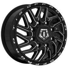 "TIS 544BM Dually Front 20x8.25 8x210 +127mm Black/Milled Wheel Rim 20"" Inch"