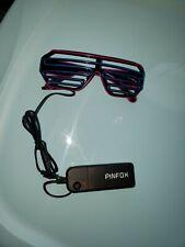 PINFOX LED Glow EL Glasses Shade Light Up Flashing Blink Sunglasses Party