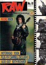 Gary Moore on Raw Cover 1989 Iggy Pop Vixen Motorhead Keith Richards W.A.S.P.