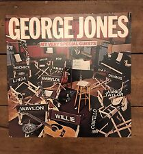 """George Jones – My Very Special Guests  EPC 83163 12"""" LP - Willie Nelson etc"""