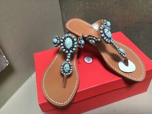 Ivanka Trump JODY Leather Low Wedge Sandals 6,5 US 37,5 EU New with box