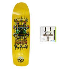 Black Label Skateboard Deck Emergency Lucero OG Yellow Sk8ology Wall Mount