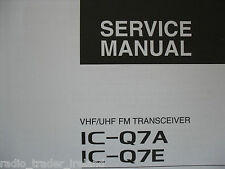 Icom-q7a-q7e (servizio autentico solo manuale)....... radio_trader_ireland.