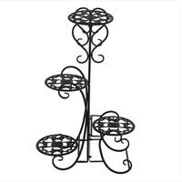 4 Tier Metal Shelves Flower Pot Plant Stand Display Indoor Outdoor Garden