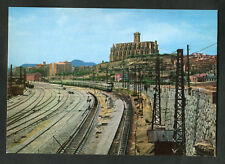 C1970s View: Train Leaving Renfe Station, Manresa