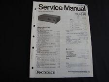 Original Service Manual Technics amplifier su-810