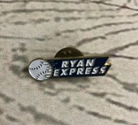 1989 Chevron Nolan Ryan Enamel Lapel Pin Ryan Express ~ MLB Texas Rangers