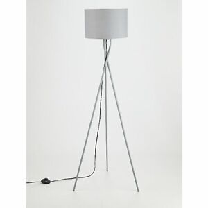 Grey Tripod Floor Lamp