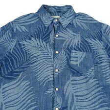 Silk + Linen Floral Shirt | Men's L | Aloha Hawaiian Retro Pattern Vintage