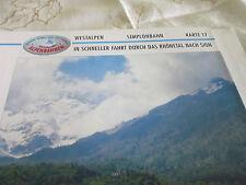 Alpenbahnen Westalpen K 17 Simplonbahn St Triphon Sion Rhônetal
